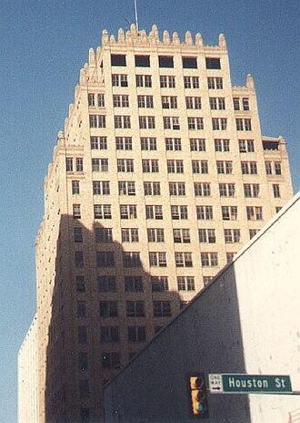 Blackstone Hotel (Fort Worth, Texas) - Abandoned Blackstone Hotel in 1990