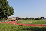 Blick auf den Hauptrasen des FVL im Sportzentrum