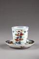 Blommig kopp från Japan gjord på 1700-talet - Hallwylska museet - 96021.tif