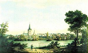 Bochum - View of Bochum in 1840.