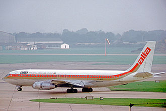 Royal Jordanian - Alia Boeing 707-300 at London Heathrow Airport in 1971