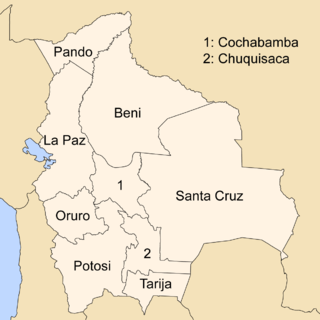 Departments of Bolivia Wikimedia list article