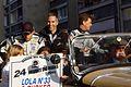 Bouchut, Barbosa, and Tucker Le Mans drivers parade 2011.jpg
