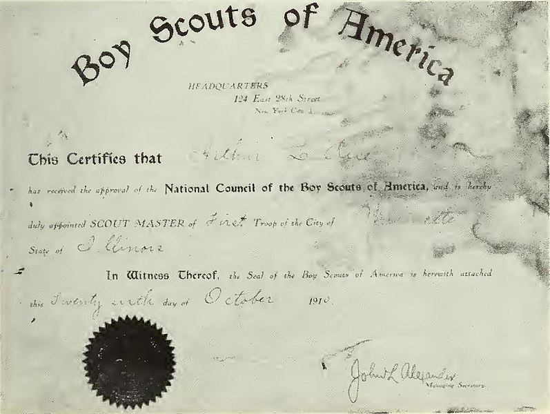 File:Boy Scouts of America first Wilmette Scout Master.jpg