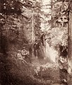 Boy and men at boulder with runic inscription, Ed, Uppland, Sweden (3480378072).jpg