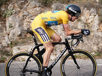 2012 Paris–Nice - Bradley Wiggins won the final stage of the race by two seconds, to win the race overall by eight seconds over Lieuwe Westra.