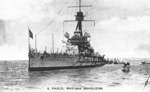 Brazilian battleship São Paulo - São Paulo seen at an unknown point in its career