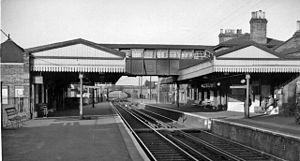 Brentford railway station - View eastward in 1961