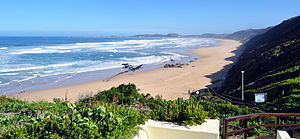 Brenton-on-Sea - View of the beach