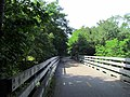 Bridge over Saugatucket River, South County Bike Path, Wakefield, RI.JPG