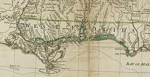 Battle of Baton Rouge (1779) - Image: British West Florida 1776
