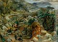 British Snipers on the Island of Ubbea near Khakio - 10th Infantry Brigade Art.IWMARTLD5040.jpg