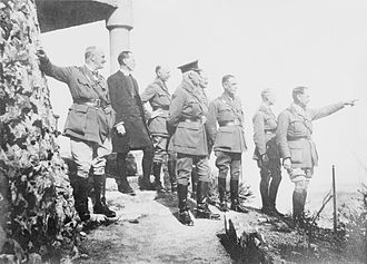 Edward Bulfin - Bulfin, third from right, with other generals on the Mount of Olives, Jerusalem, 19 March 1918