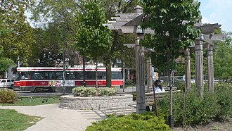 Broadview station - Image: Broadview Parkette 4159