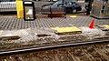 Broken platform edge at Washington Square station, April 2017.jpg