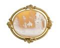 Brosch, av guld med kamé, del av garnityr - Hallwylska museet - 109877.tif