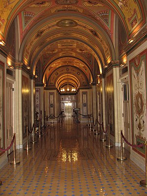 Brumidi Corridors - Brumidi Corridor facing west.