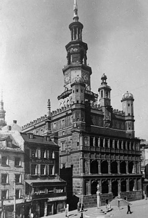 Poznań Town Hall - Town Hall about 1910, during the German rule