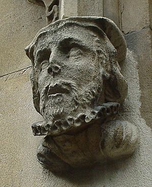 William Tyndale - Sculpted Head of William Tyndale from St Dunstan-in-the-West Church, London