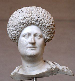 Bust of a Roman woman, ca. 80 CE. Raised hairs...