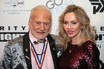 Buzz Aldrin with guest (32512509977).jpg