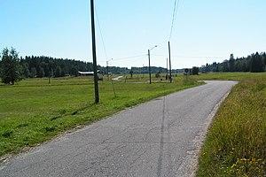 Holmöarna - The main road connecting Holmön and Ängesön.