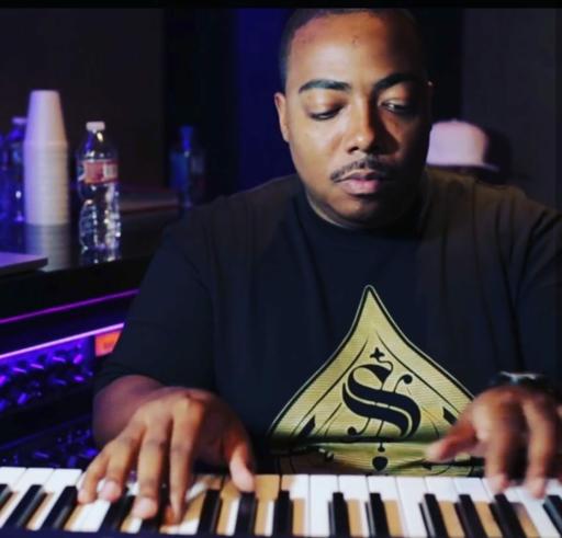 C. Ballin at the studio   How To Make Hip-Hop.com