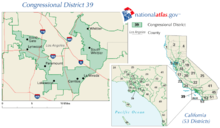 Californias Th Congressional District Wikipedia - California us house district map