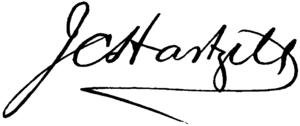 Joseph Crane Hartzell - Image: CAB 1918 Hartzell Joseph Crane signature
