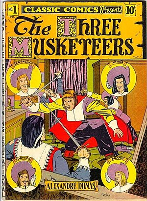 The Three Musketeers - Three Musketeers, Issue No. 1, Classic Comics, published 1941