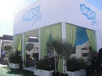 Skype Technologies - Skype lounge at CES 2012