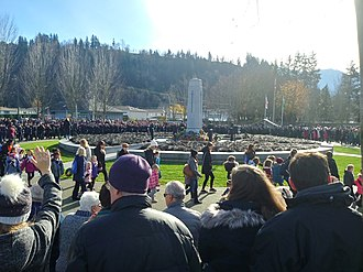CFB Chilliwack - CFB Chilliwack memorial cenotaph at Keith Wilson and Vedder Nov 11, 2018