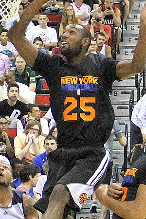C. J. Leslie - Leslie playing for the Knicks during the 2013 NBA Summer League