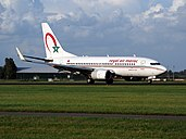 CN-RNM Royal Air Maroc Boeing 737-2B6C, 11Aug2014, landing at Schiphol (AMS - EHAM), The Netherlands, pic2.JPG