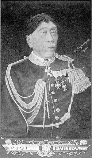 Mangkunegara IV - Image: COLLECTIE TROPENMUSEUM De vorst Mangkoe Negoro IV die tussen 1853 en 1881 het gebied Mangkoe Negaram bestuurde T Mnr 10001298