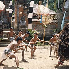 the proficient spirit is identified equally Banas Pati  Raja BaliBeach; Barong Dance - Balinese Mythology