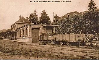 Allevard - The old tramway station of Pontcharra