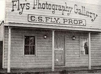 C. S. Fly - Image: CS Fly studio tombstone