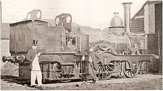 Locomotives of the Southern Railway - LBSCR 2-2-2WT, built by Sharp Brothers in 1849
