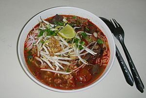 Nam ngiao - Nam ngiao in Chiang Rai city with a different type of noodles