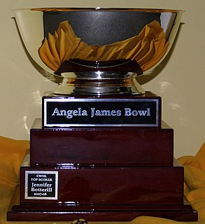 Angela James Bowl