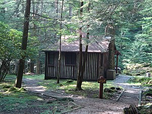 National Register of Historic Places listings in Webster County, West Virginia - Image: Cabin 6, Holly River State Park
