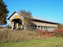 Caine Road (Ashtabula County, Ohio) Covered Bridge 1.jpg