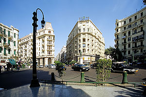 Downtown Cairo - Talaat Harb Square, the heart of Downtown Cairo.