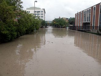 Macleod Trail - Macleod Trail in downtown Calgary during the 2013 Alberta floods