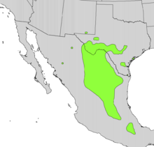 Calia secundiflora range map.png