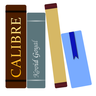 Calibre (software) an e-book manager that can view, convert, edit and catalog e-books in all of the major e-book formats.