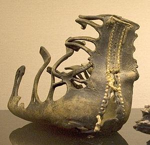 Qasr Ibrim - Original Roman caliga, found at Qasr Ibrim, Egypt. 1st century BC – 1st century AD. British Museum, room 65.
