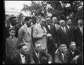 Calvin Coolidge and group outside White House, Washington, D.C. LCCN2016893687.tif
