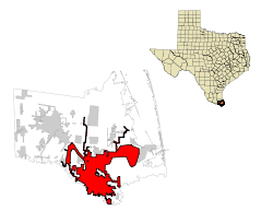 Cameron County Brownsville Highlighted.svg